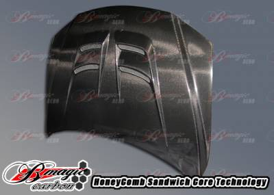 6 4Dr - Hoods - AIT Racing - Mazda 6 AIT Racing Raiden Style Carbon Fiber Hood - M602BMRDNCFH