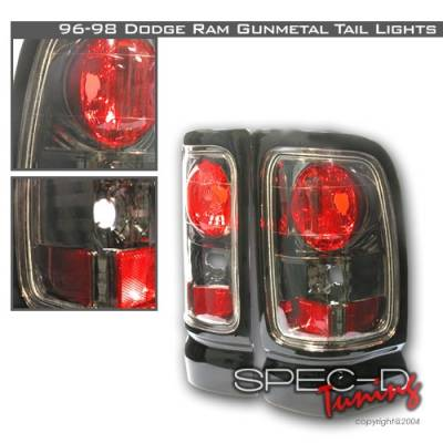 Headlights & Tail Lights - Tail Lights - Custom Disco - Dodge Ram Custom Disco Gunmetal Taillights - LT-RAM96G-YD