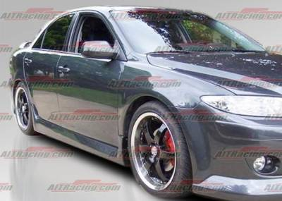 6 4Dr - Side Skirts - AIT Racing - Mazda 6 AIT Racing KS Style Side Skirts - M602HIMAXSS