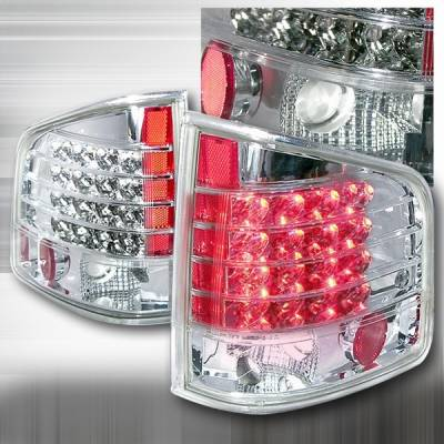 Headlights & Tail Lights - LED Tail Lights - Custom Disco - Chevrolet S10 Custom Disco Clear & Chrome LED Taillights - LT-S1094CLED-KS