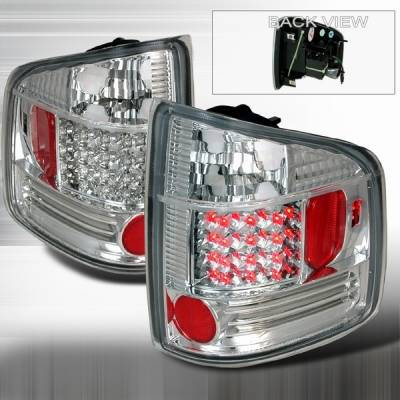 Headlights & Tail Lights - LED Tail Lights - Custom Disco - Chevrolet S10 Custom Disco Chrome LED Taillights - LT-S1094CLED-YD
