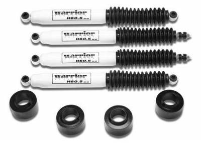 Suspension - Shocks - Warrior - Jeep Wrangler Warrior Front Spacer Lift Kit with Shocks - 2 Inch - 30820