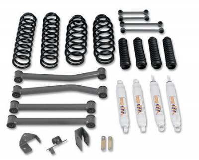 Suspension - Shocks - Warrior - Jeep Wrangler Warrior Front Lift Kit with Shocks - 3 Inch - 30851