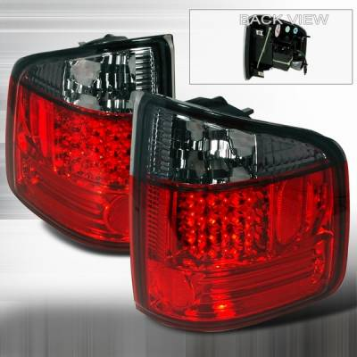 Headlights & Tail Lights - LED Tail Lights - Custom Disco - Chevrolet S10 Custom Disco Red & Smoke LED Taillights - LT-S1094RGLED-YD