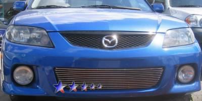 Grilles - Custom Fit Grilles - APS - Mazda Protege APS Billet Grille - Bumper - Aluminum - M66221A