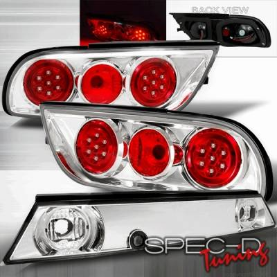Headlights & Tail Lights - Led Tail Lights - Custom Disco - Nissan 240SX Custom Disco Chrome LED Altezza Taillights - LT-S13893CLED
