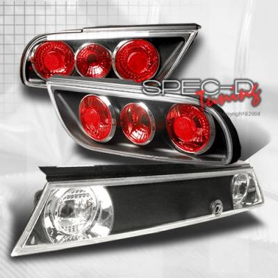 Headlights & Tail Lights - Tail Lights - Custom Disco - Nissan 240SX Custom Disco Black Taillights - 3PC - LT-S1389JM3
