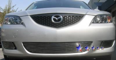 Grilles - Custom Fit Grilles - APS - Mazda 3 4DR APS Billet Grille - Bumper - Aluminum - M66231A
