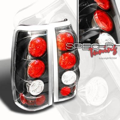 Headlights & Tail Lights - Tail Lights - Custom Disco - Chevrolet Silverado Custom Disco JDM Black Taillights - LT-SIV03JM-YD