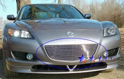 Grilles - Custom Fit Grilles - APS - Mazda RX-8 APS Billet Grille - Upper - Aluminum - M66281A