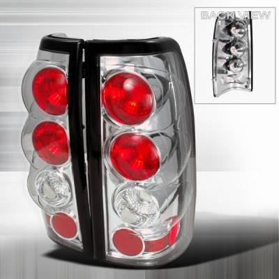 Headlights & Tail Lights - Tail Lights - Custom Disco - Chevrolet Silverado Custom Disco Chrome Taillights - LT-SIV03-YD