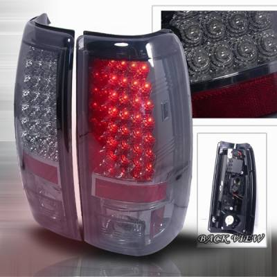 Headlights & Tail Lights - Led Tail Lights - Custom Disco - Chevrolet Silverado Custom Disco Clear LED Taillights - LT-SIV99GLED-YD