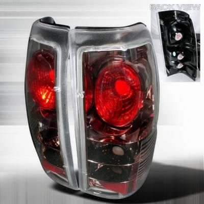 Headlights & Tail Lights - Tail Lights - Custom Disco - Chevrolet Silverado Custom Disco Black Taillights - LT-SIV99G-YD