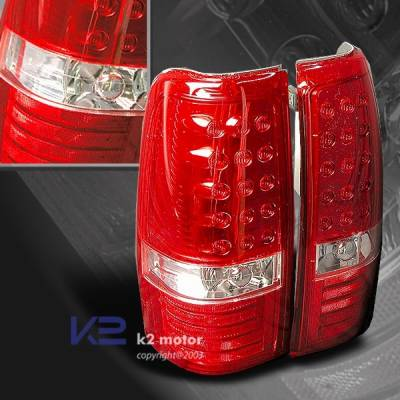 Headlights & Tail Lights - Led Tail Lights - Custom Disco - Chevrolet Silverado Custom Disco Red LED Taillights - LT-SIV99RLED