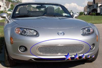 Grilles - Custom Fit Grilles - APS - Mazda MX5 APS Wire Mesh Grille - Bumper - Stainless Steel - M76228T