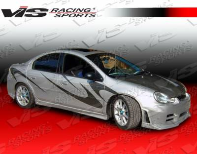 Neon 4Dr - Side Skirts - VIS Racing - Dodge Neon 4DR VIS Racing Kombat Side Skirts - 00DGNEO4DKOM-004