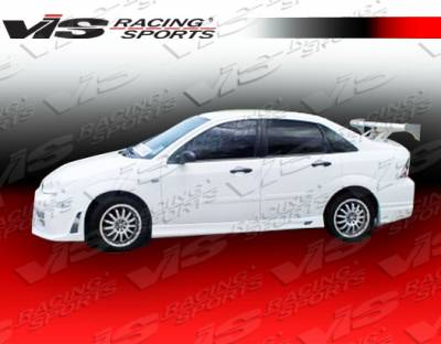 Focus 4Dr - Side Skirts - VIS Racing - Ford Focus VIS Racing Tracer Side Skirts - 00FDFOC2DTRA-004