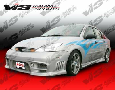 Focus 4Dr - Side Skirts - VIS Racing - Ford Focus VIS Racing Wizdom Side Skirts - 00FDFOC2DWIZ-004