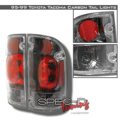 Headlights & Tail Lights - Tail Lights - Custom Disco - Toyota Tacoma Custom Disco Carbon Fiber Taillights - LT-TAC95CF-YD