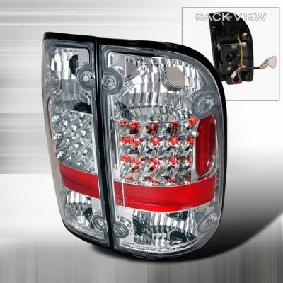 Headlights & Tail Lights - Led Tail Lights - Custom Disco - Toyota Tacoma Custom Disco Chrome LED Taillights - LT-TAC95CLED-YD