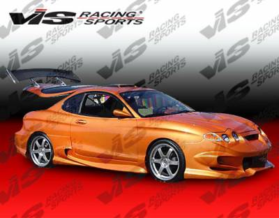 Tiburon - Side Skirts - VIS Racing - Hyundai Tiburon VIS Racing Invader-2 Side Skirts - 00HYTIB2DINV2-004