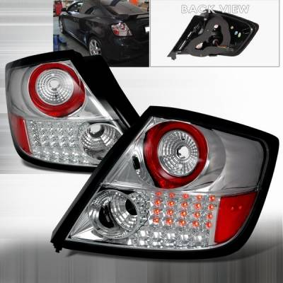 Headlights & Tail Lights - Led Tail Lights - Custom Disco - Scion tC Custom Disco Chrome LED Taillights - LT-TC04CLED