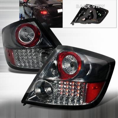 Headlights & Tail Lights - Led Tail Lights - Custom Disco - Scion tC Custom Disco Smoke & Chrome LED Taillights - LT-TC04GCLED