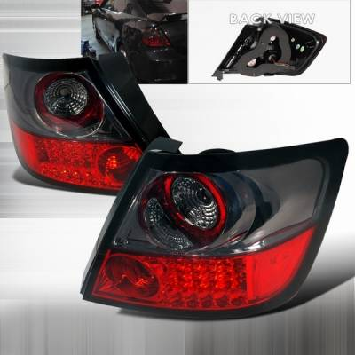 Headlights & Tail Lights - Led Tail Lights - Custom Disco - Scion tC Custom Disco Red & Smoke LED Taillights - LT-TC04GRLED