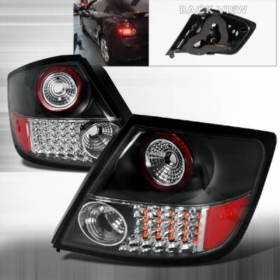 Headlights & Tail Lights - Led Tail Lights - Custom Disco - Scion tC Custom Disco JDM Black LED Taillights - LT-TC04JMLED