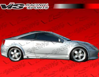 Celica - Side Skirts - VIS Racing - Toyota Celica VIS Racing Techno R-3 Side Skirts - 00TYCEL2DTNR3-004