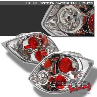 Headlights & Tail Lights - Tail Lights - Custom Disco - Toyota Matrix Custom Disco Chrome Taillights - LT-TRIX02-YD