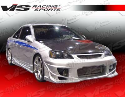 Civic 2Dr - Side Skirts - VIS Racing - Honda Civic 2DR VIS Racing Ballistix Side Skirts - 01HDCVC2DBX-004
