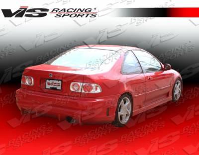 Civic 2Dr - Side Skirts - VIS Racing - Honda Civic 2DR VIS Racing TSC Side Skirts - 01HDCVC2DTSC-004