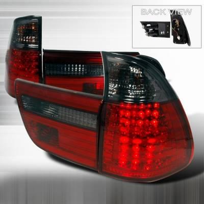 Headlights & Tail Lights - Led Tail Lights - Custom Disco - BMW X5 Custom Disco Smoke LED Taillights - LT-X500RGLED-YD