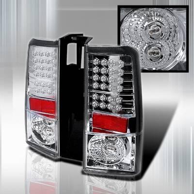 Headlights & Tail Lights - Led Tail Lights - Custom Disco - Scion xB Custom Disco Clear LED Taillights - LT-XB04LED