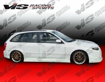 Protege - Side Skirts - VIS Racing - Mazda Protege VIS Racing Spike Side Skirts - 01MZ3234DSPK-004
