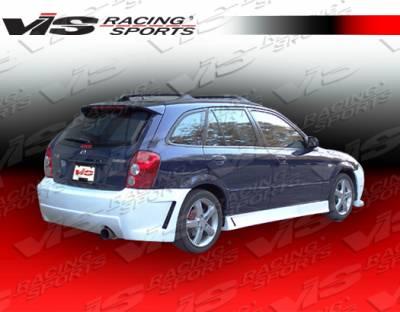 Protege - Side Skirts - VIS Racing - Mazda Protege VIS Racing TSC 3 Side Skirts - 01MZ3235DTSC3-004