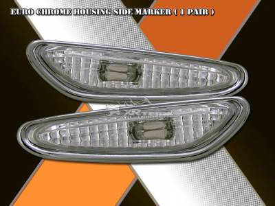Headlights & Tail Lights - Corner Lights - Custom - Euro Chrome Housing Side Marker