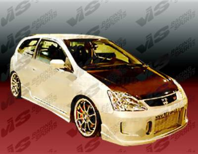 Civic HB - Side Skirts - VIS Racing - Honda Civic HB VIS Racing TSC 2 Side Skirts - 02HDCVCHBTSC2-004