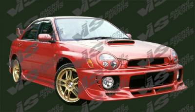 WRX - Side Skirts - VIS Racing - Subaru WRX VIS Racing Tracer Side Skirts - 02SBWRX4DTRA-004