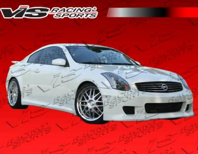 G35 2Dr - Side Skirts - VIS Racing - Infiniti G35 2DR VIS Racing Kuruma Z Side Skirts - 03ING352DKZ-004P