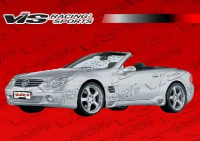 SL - Side Skirts - VIS Racing - Mercedes-Benz SL VIS Racing Laser Side Skirts - 03MER2302DLS-004