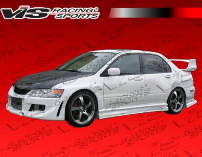 Evolution 8 - Side Skirts - VIS Racing - Mitsubishi Evolution 8 VIS Racing Invader Side Skirts - 03MTEV84DINV-004