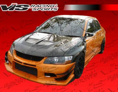 Evolution 8 - Side Skirts - VIS Racing - Mitsubishi Evolution 8 VIS Racing VTX Side Skirts - 03MTEV84DVTX-004