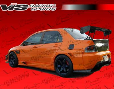 Evolution 8 - Side Skirts - VIS Racing. - Mitsubishi Evolution 8 VIS Racing VTX Widebody Side Skirts - 03MTEV84DVTXWB-004