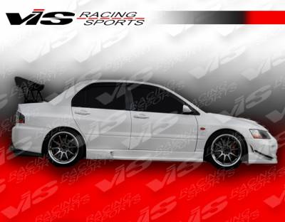 Evolution 8 - Side Skirts - VIS Racing - Mitsubishi Evolution 8 VIS Racing Wings Side Skirts - 03MTEV84DWIN-004