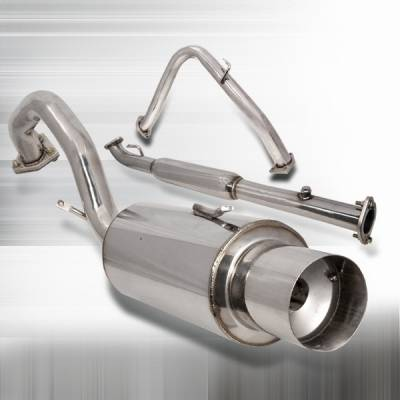 Exhaust - Mufflers - Custom Disco - Mitsubishi Eclipse Custom Disco Non Turbo N1-Style Catback Muffler Exhaust System - MFCAT3-ELP95NT