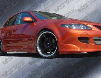 6 4Dr - Side Skirts - VIS Racing - Mazda 6 VIS Racing Fuzion Side Skirts - 03MZ64DFUZ-004
