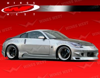 350Z - Side Skirts - VIS Racing - Nissan 350Z VIS Racing JPC Type A Side Skirts - 03NS3502DJPCA-004
