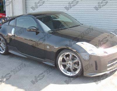 350Z - Side Skirts - VIS Racing - Nissan 350Z VIS Racing Techno R Side Skirts - 03NS3502DTNR-004